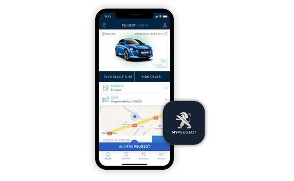 NEUER PEUGEOTe-208 – App MyPeugeot