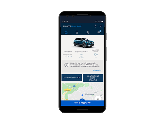 Neuer PEUGEOT 5008 – MyPEUGEOT App